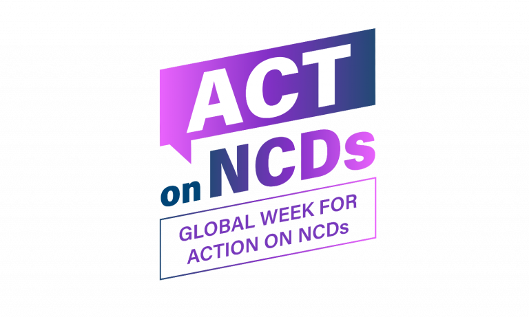 Purple Logo for Global Week for ACtion on NCDs