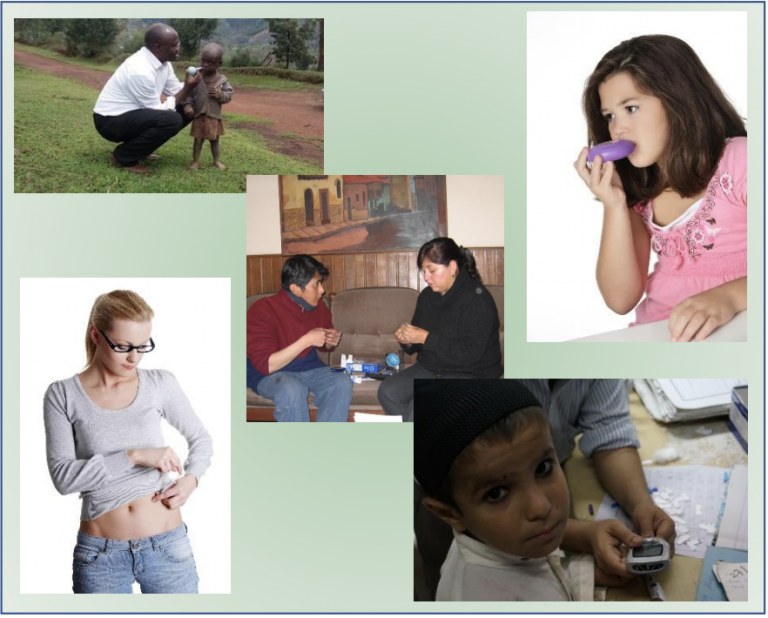 collage of various photos taken at case studies