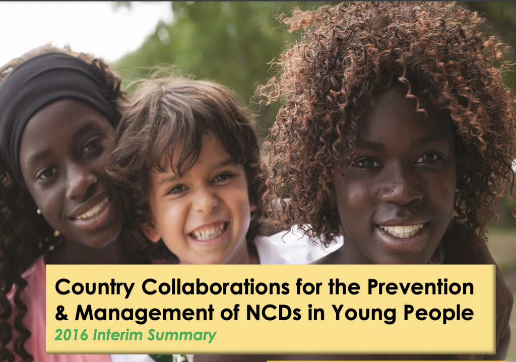 three children smiling at camera on the topic of collaborations for the prevention of NCDs