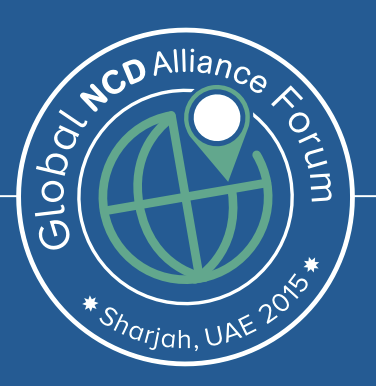 Logo of the Global NCD Alliance Forum in Sharjah UAE 2015