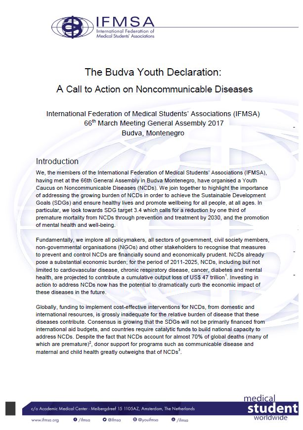 Budva Youth Declaration 2017