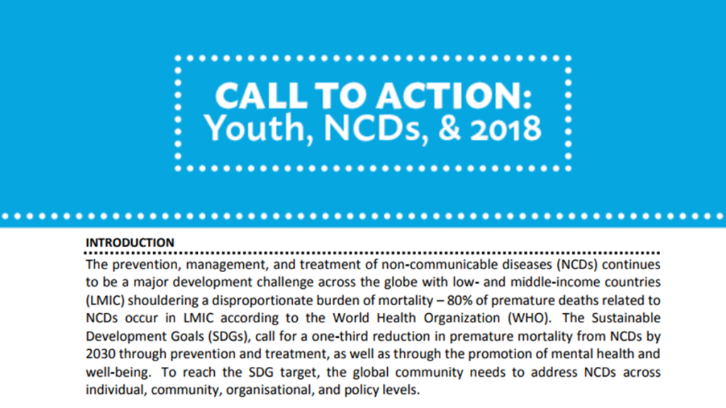 NCD Alliance Forum 2017 Call to Action screen-shot