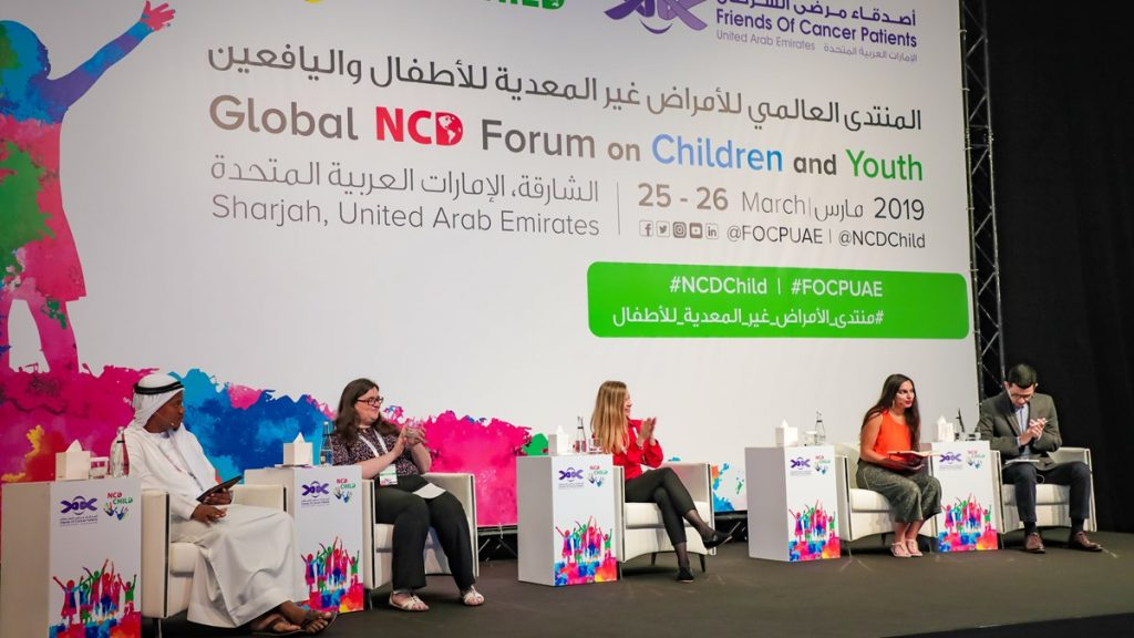 the panel at the global ncd forum on children and youth in sharjah 2019