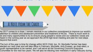snapshot of 2017 NCD Child newsletter