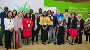 Group photo of the youth at the NCD Child forum in Sharjah 2020