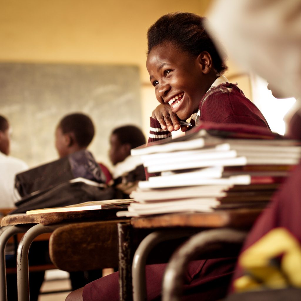 Happy young South African girl with a big smile